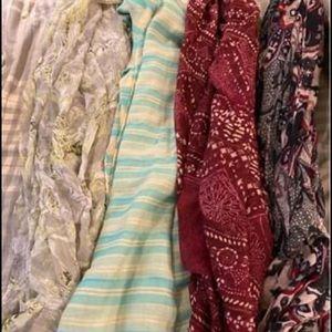 Sheer fashion scarves